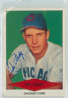 Dee Fondy AUTOGRAPH d.99 1954 Red Heart Reprints Cubs 