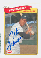 Tito Francona AUTOGRAPH Swell Braves 