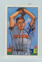 Ned Garver AUTOGRAPH 1952 Bowman Reprints Browns 