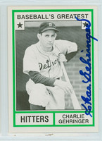 Charlie Gehringer AUTOGRAPH d.93 TCMA Greatest Hitters Tigers 