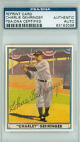 Charlie Gehringer AUTOGRAPH d.93 41 Play Ball Reprints Tigers PSA/DNA 