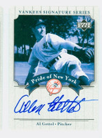 Allen Gettel AUTOGRAPH d.05 2003 Pride of the Yankees CERTIFIED 