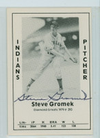 Steve Gromek AUTOGRAPH d.02 1979 TCMA Diamond Greats Indians 