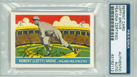 Lefty Grove AUTOGRAPH d.75 Delong Reprints Dodgers PSA/DNA 
