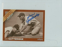 Don Gutteridge AUTOGRAPH d.08 Diamond Action Cardinals 