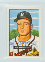 Roy Hartsfield AUTOGRAPH d.11 1951 Bowman Reprints Braves 