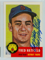 Fred Hatfield AUTOGRAPH d.98 Topps 1953 Archives Tigers 