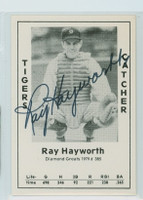 Ray Hayworth AUTOGRAPH d.02 1979 TCMA Diamond Greats Tigers 