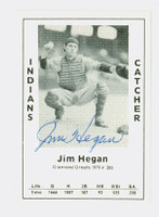 Jim Hegan AUTOGRAPH d.84 1979 TCMA Diamond Greats Indians 