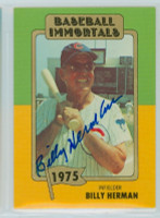 Billy Herman AUTOGRAPH d.92 TCMA Baseball Immortals Cubs 