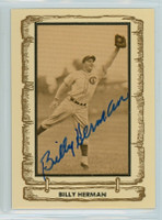 Billy Herman AUTOGRAPH d.92 1980-83 Cramer Baseball Legends Cubs 