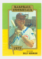 Billy Herman AUTOGRAPH d.92 1980-88 TCMA BB Immortals 