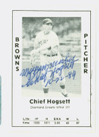Chief Hogsett AUTOGRAPH d.01 1979 TCMA Diamond Greats Browns 