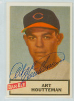 Art Houtteman AUTOGRAPH d.03 1954 Dan -Dee Reprints Indians 
