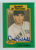 Carl Hubbell AUTOGRAPH d.88 TCMA All-Time Greats Giants 
