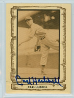 Carl Hubbell AUTOGRAPH d.88 1980-83 Cramer Baseball Legends Giants 