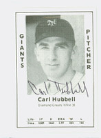 Carl Hubbell AUTOGRAPH d.88 1979 TCMA Diamond Greats Giants 