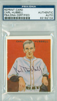 Carl Hubbell AUTOGRAPH d.88 33 Goudey Reprints Giants PSA/DNA 