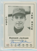 Randy Jackson AUTOGRAPH d.19 1979 TCMA Diamond Greats Cubs 