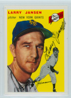 Larry Jansen AUTOGRAPH d.09 Topps 1954 Archives #200 Giants 