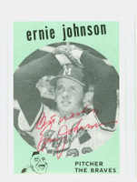 Ernie Johnson AUTOGRAPH d.11 The Braves / The Yankees 