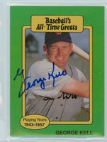 George Kell AUTOGRAPH d.09 TCMA All-Time Greats Tigers 