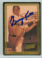 George Kell AUTOGRAPH d.09 Action Packed Tigers 
