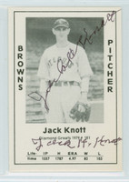 Jack Knott AUTOGRAPH d.81 1979 TCMA Diamond Greats Browns 