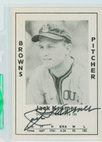 Jack Kramer AUTOGRAPH d.95 1979 TCMA Diamond Greats Browns 