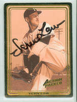 Vernon Law AUTOGRAPH Action Packed Pirates 