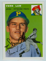 Vern Law AUTOGRAPH Topps 1954 Archives #235 Pirates 