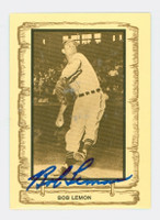 Bob Lemon AUTOGRAPH d.00 1980-83 Cramer Baseball Legends 