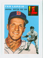 Ted Lepcio AUTOGRAPH Topps 1954 Archives Red Sox 