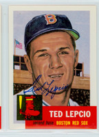 Ted Lepcio AUTOGRAPH Topps 1953 Archives Red Sox 