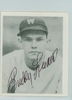 Buddy Lewis AUTOGRAPH d.11 Pre-War Reprints 1939 Play Ball Senators  WRITING ON BACK
