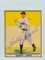 Buddy Lewis AUTOGRAPH d.11 1941 Play Ball Reprints Senators 