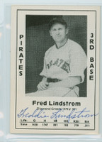 Fred Lindstrom AUTOGRAPH d.81 1979 TCMA Diamond Greats Pirates 