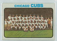 Freddy Lindstrom AUTOGRAPH d.81 1973 Topps #464 Cubs Team Card 