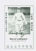 Dario Lodigiani AUTOGRAPH d.08 1979 TCMA Diamond Greats Athletics 