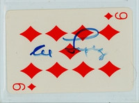 Al Lopez AUTOGRAPH d.05 Cooperstown Museum Playing Cards 
