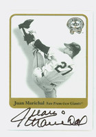 Juan Marichal AUTOGRAPH 2001 Fleer Greats of the Game Giants CERTIFIED 