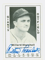 Willard Marshall AUTOGRAPH d.00 1979 TCMA Diamond Greats Giants 