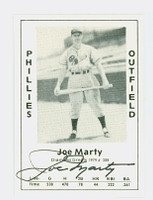 Joe Marty AUTOGRAPH d.84 1979 TCMA Diamond Greats Phillies 