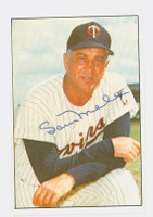 Sam Mele AUTOGRAPH 1977-78 Twins Team Issue 