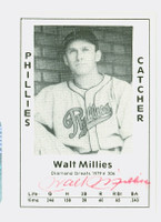 Wally Millies AUTOGRAPH d.95 1979 TCMA Diamond Greats Phillies 