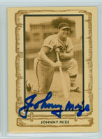 Johnny Mize AUTOGRAPH d.93 1980-83 Cramer Baseball Legends Cardinals 