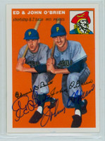 Ed O' Brien DUAL SIGNED d.13 Topps 1954 Archives #139 Pirates Ed / John O'Brien 