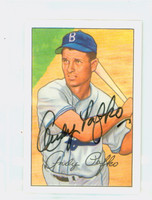 Andy Pafko AUTOGRAPH d.13 1952 Bowman Reprints Dodgers 