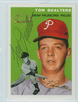 Tom Qualters AUTOGRAPH Topps 1954 Archives #174 Phillies 