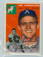 Jim Robertson AUTOGRAPH Topps 1954 Archives #149 Athletics 